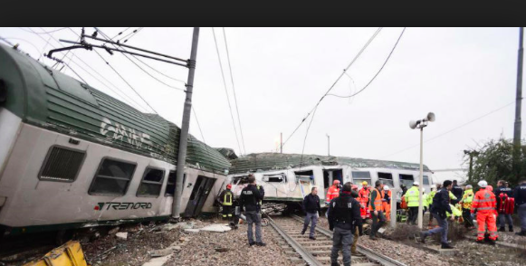 Grave incidente ferroviario a Pioltello
